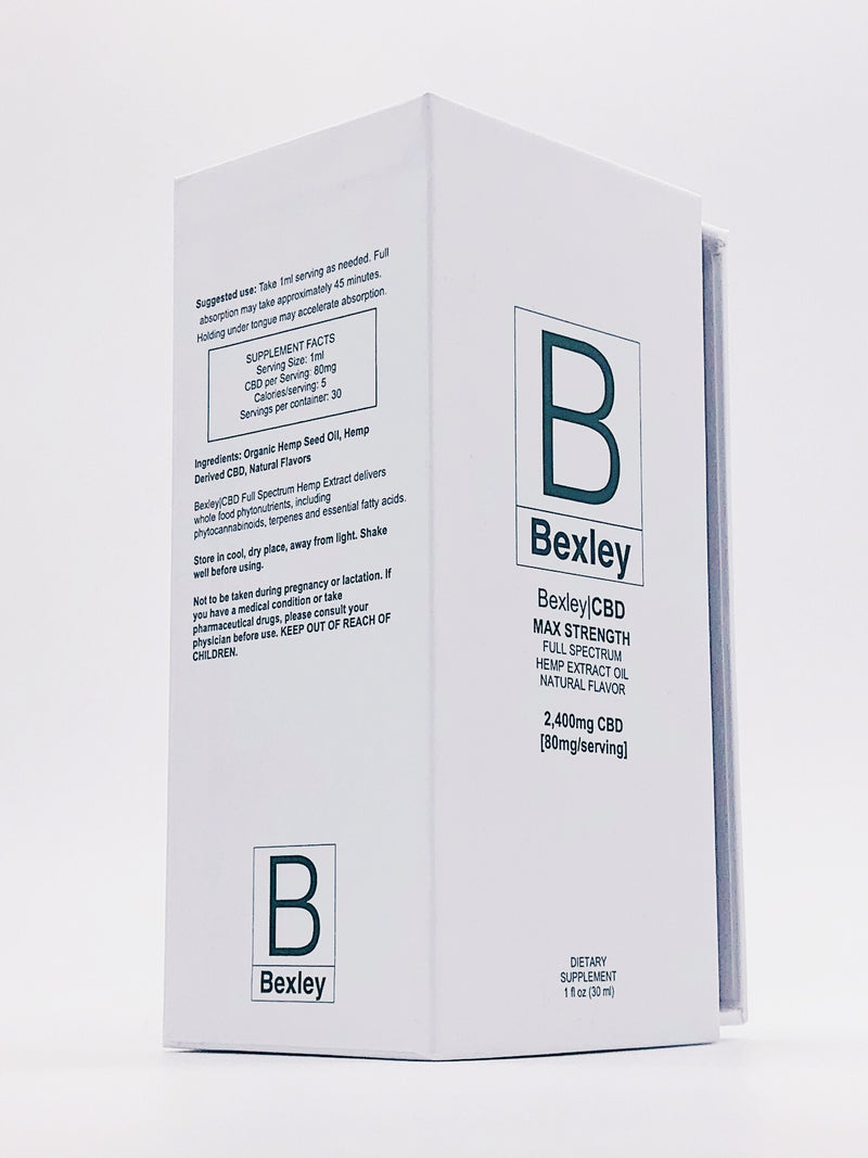 Bexley|CBD MAX STRENGTH (2,400mg|Oil) [30 servings]