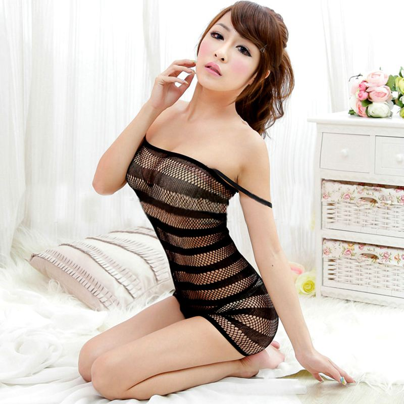 Sexy Lingerie Swimsuit  Fishnet Sex Toys Bodysuit Body Stocking Dress Nightwear Underwear Sandy Beach