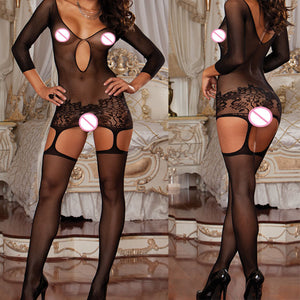 Plus Size Sexy Lingerie Hot Fishnet Open Crotch Exotic Lingerie Underwear Porn Babydoll Lenceria Sexy Costumes Sex Products