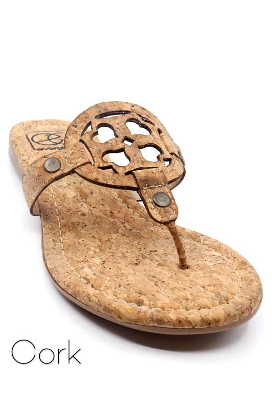 Cork Medallion Sandal