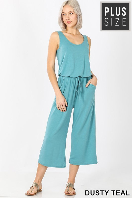 Plus Size Capri Jumpsuit