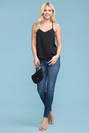 Plus Size Mid-Rise Hand Sand Skinny Jean