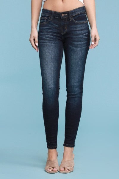 Plus Size Mid Rise Skinny Jeans by Judy Blue