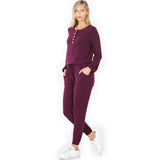 Long Sleeve Jogger Jumpsuit
