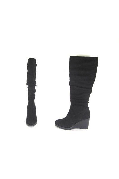 Tall Wedge Heel Boots