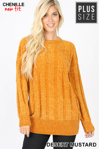 Cable Knit Chenille Sweater - DM