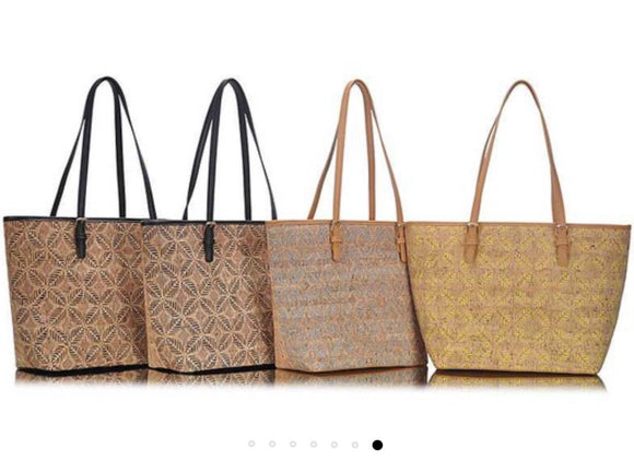 Textured Cork Tote