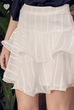 Ruffle Detail Mini Skirt