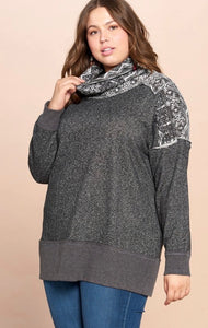 Plus Size French Terry Sweater