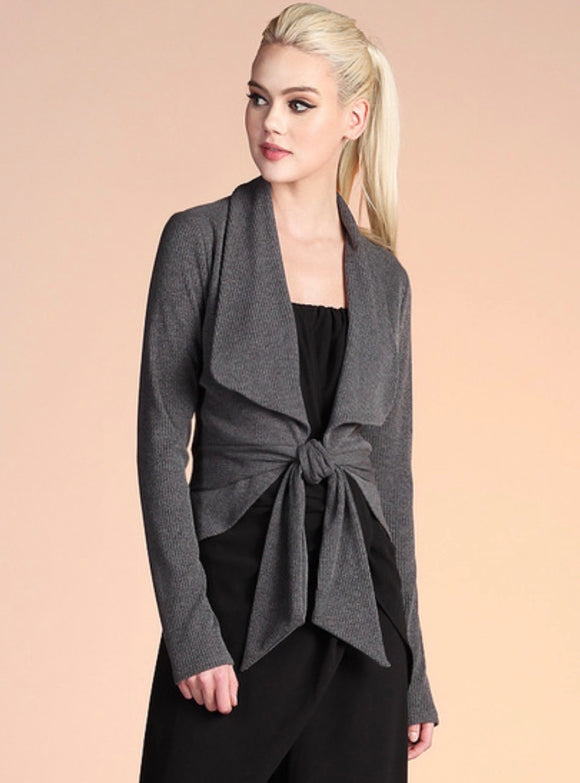 Knit Tie Front Jacket