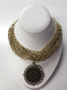 KG Multi Strand Gold Upcycled Necklace