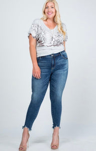 Plus Size Mid Rise Skinny Jean