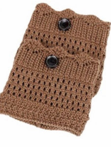 Crochet Button Boot Cuffs