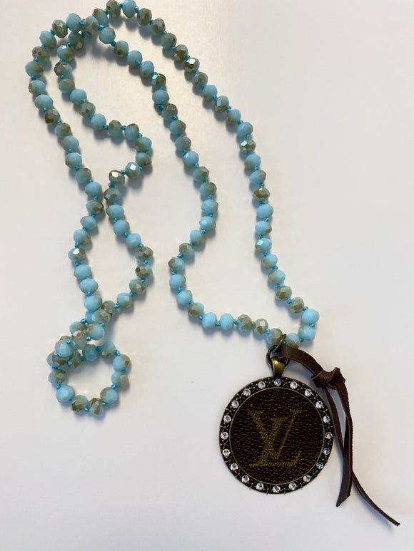 KG M Beaded Upcycled Necklace