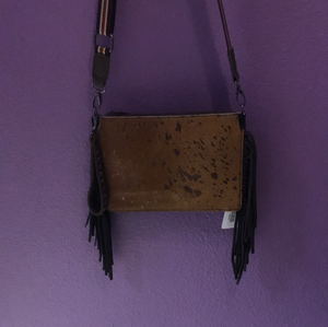 MW Animal Skin Crossbody Purse - Gold