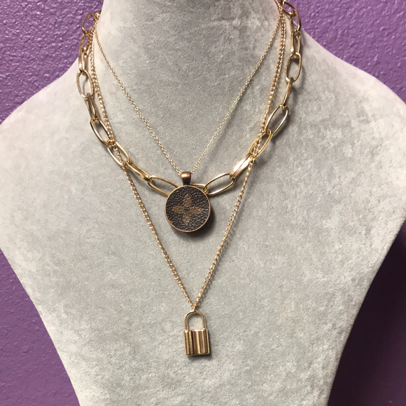 KD Upcycled Lock & Chain Necklace