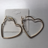 Small Hearts Hoop Earrings