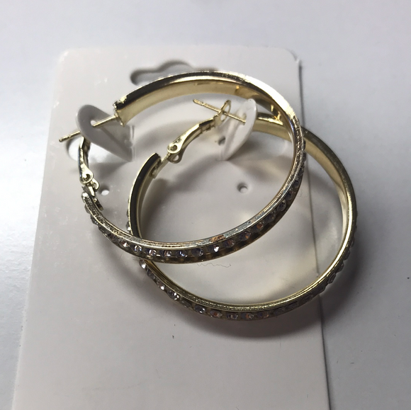 Small Rhinestone Hoops