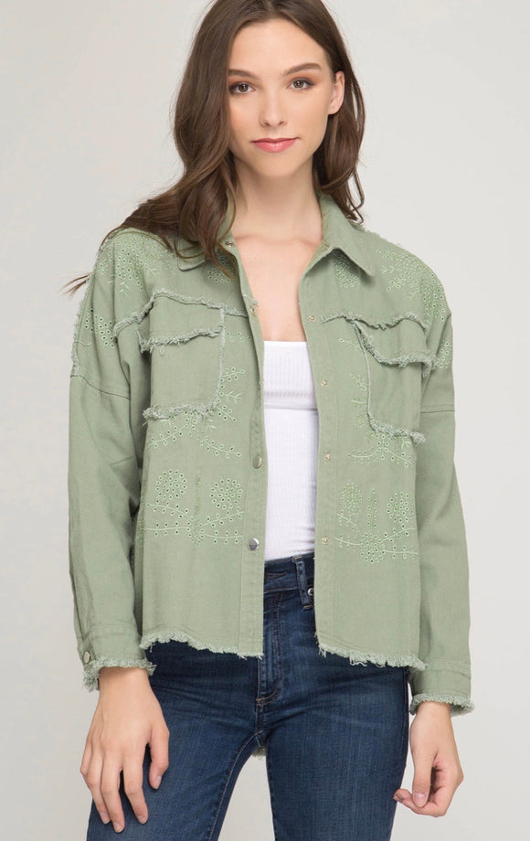 Long Sleeve Embroidered Jacket