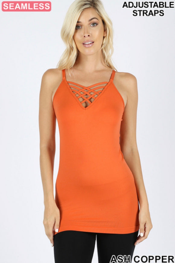 Lattice Front Cami with Wide Straps