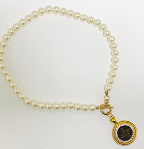 KD Pearl Drop LV Necklace