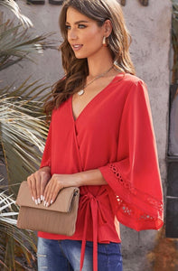 Ruby Wrap Knot Blouse