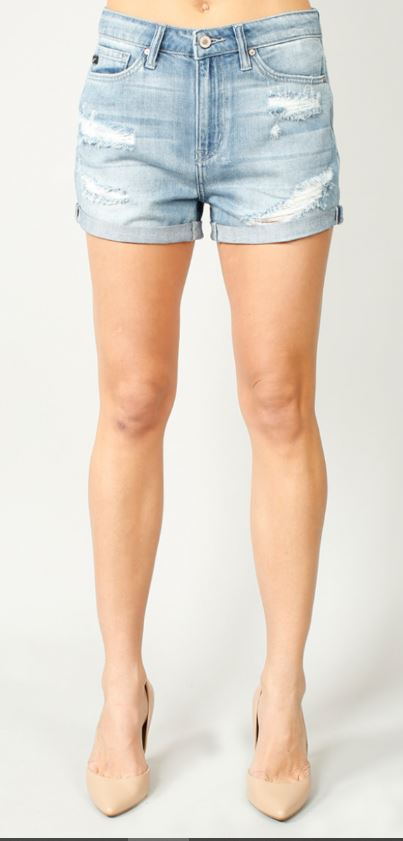 Kancan Distressed Cuffed Shorts
