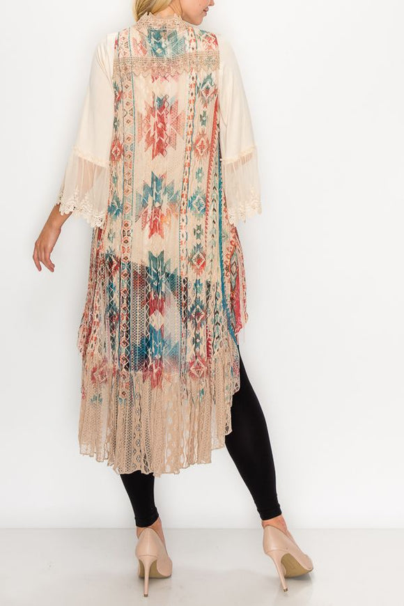 Long Lace Vest/Duster