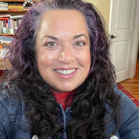 This is a photo of the author, Elisa Camahort-Page, rocking curly hair.