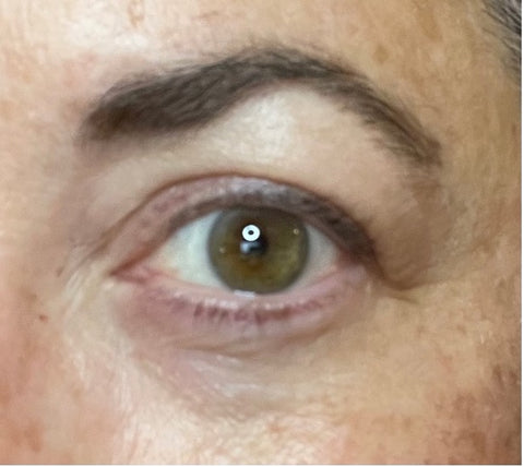 After photo of filling in brows. Lots of thick brows!