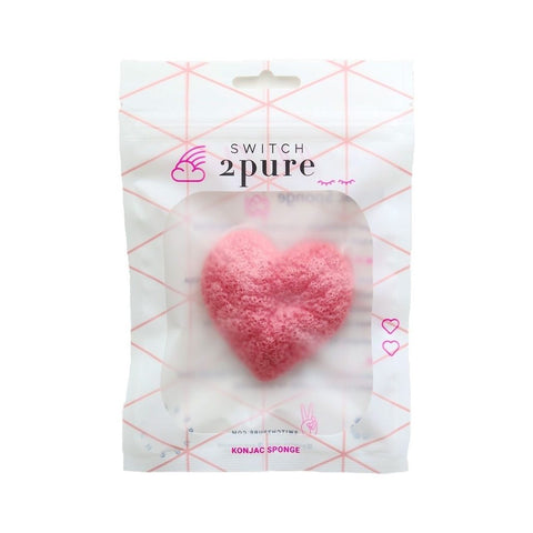 Switch2Pure/ Heart Konjac Sponge (Retail Value $10.00)