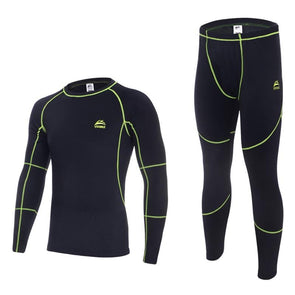 Neon Running Thermal Set