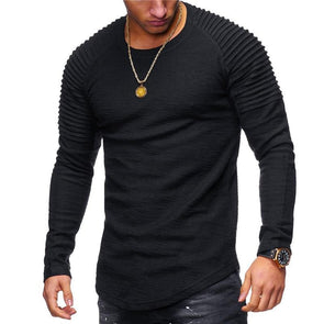 Ribbed Sleeve Casual Shirt