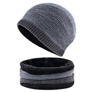 Rib Knit Band & Beanie Set