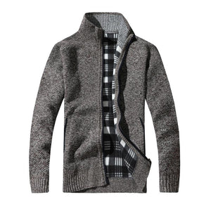 Fleece Knit Plaid Jacket