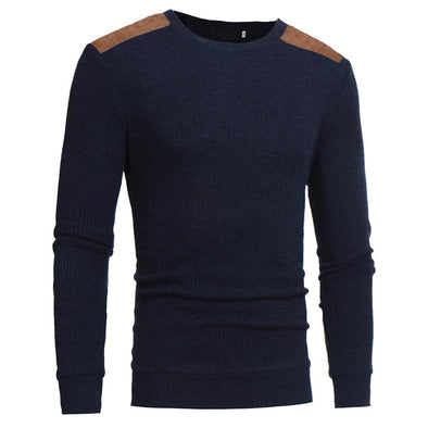 Saddle Patch Knitted Sweater