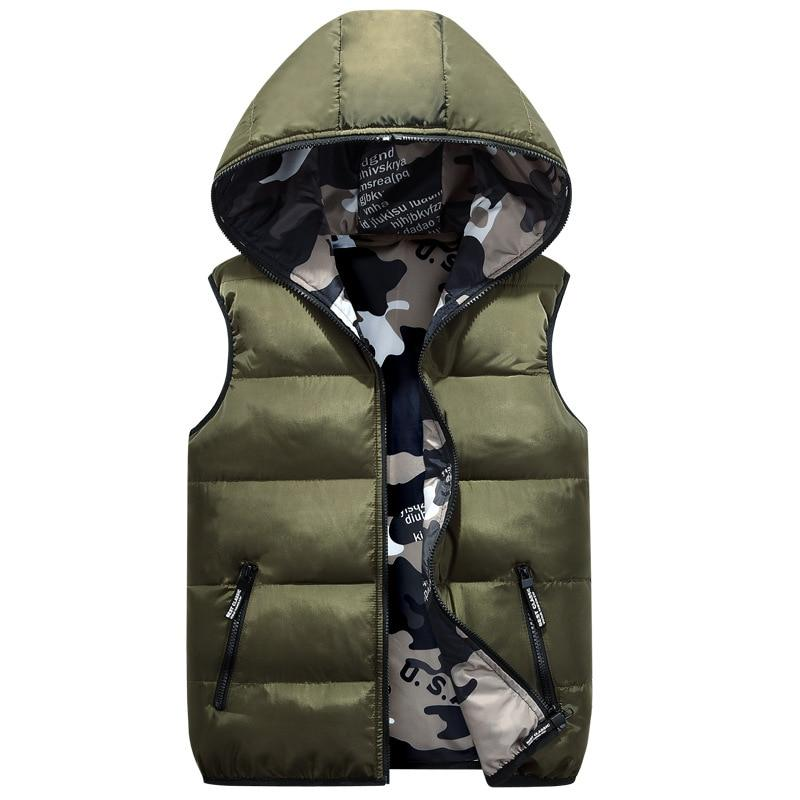 Camo Reversible Hooded Vest