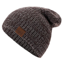 Load image into Gallery viewer, Heathered Knit Slouchy Beanie