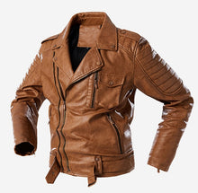 Load image into Gallery viewer, Fighting Cowboy Leather Jacket