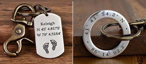 Custom Coordinates Gifts & Jewelry - Handcrafted in USA