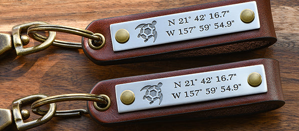 Custom High End Leather Keychains