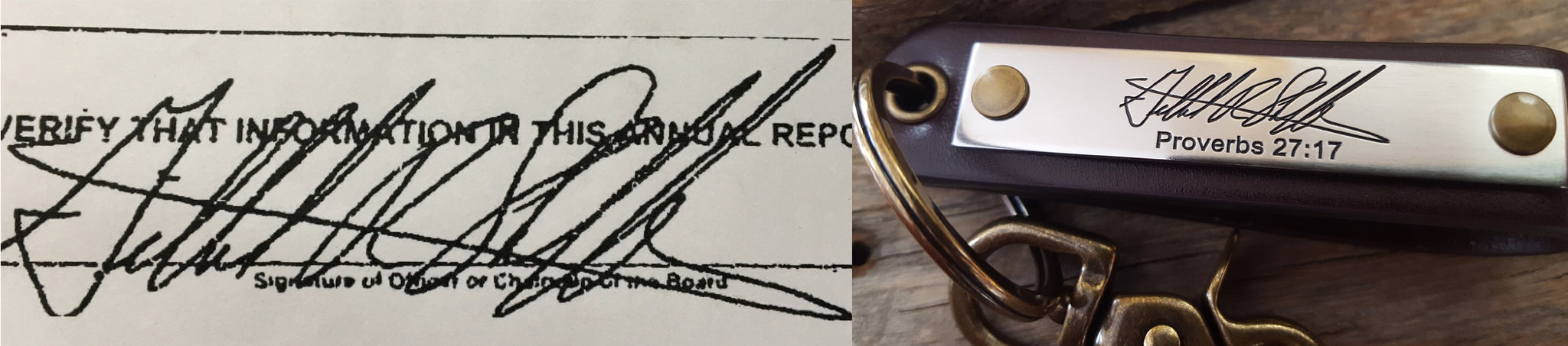 Signature Handwriting Keychain