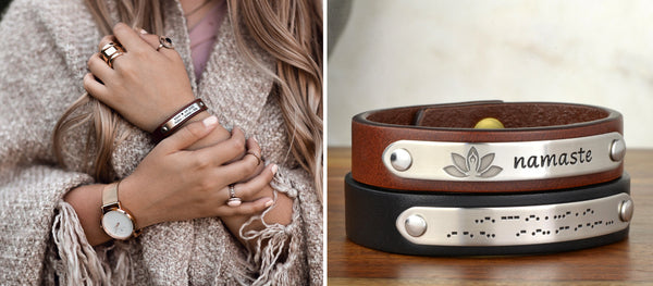 Half Inch Leather Bracelet Collection