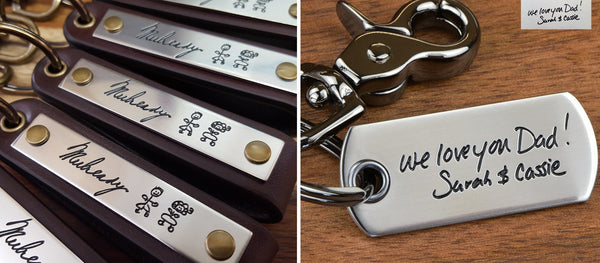 Handwriting Engraved Keychains