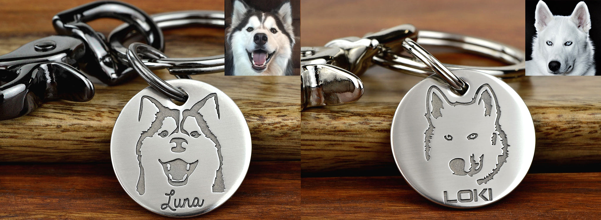Pet Portrait Keychains