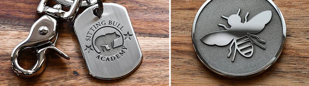 High End Custom Engraved Logo Keychains and Jewelry Gifts