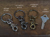 Durable split ring and clasp keychain