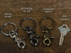 High quality keychain with split ring and clasp