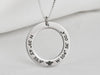 Womens Custom Engraved Ring Necklace with Symbol