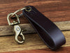 GPS Coordinates Leather Keychain